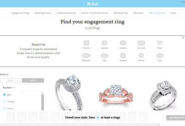 Hint, by The Knot, Allows Users to Browse Thousands of Diamonds