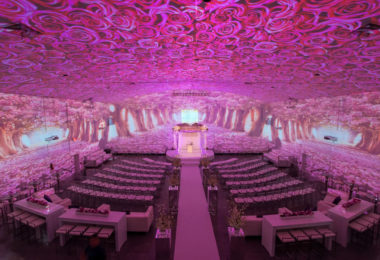 Projection Mapping Revolutionizing This Wedding Venue
